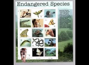 USA ** im Bogen 2769-83 Endangered Species