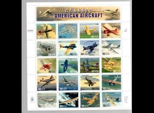 USA ** im Bogen 2833-52 Classic American Aircraft