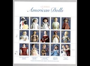 USA ** im Bogen 2857-71 American Dolls