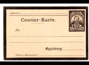 Privatpost Ganzsache-Karte Magdeburg 2,5 Pfg. ungebraucht.