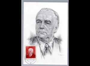 DDR, Maxi.-Karte Wilhelm Pieck.