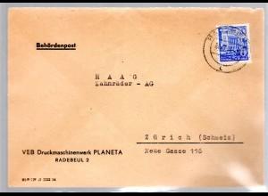 DDR, Auslandbrief mit EF. Mi.-Nr. 374