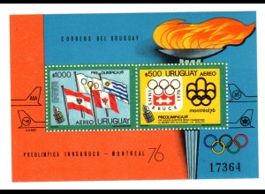 Uruguay (Innsbruck 1976) Block 25, postfrisch