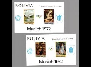 Bolivien (München 1972) Mi.-Nr Block 34-35, postfrisch