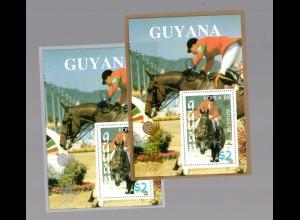 Guyana (Calgary 1988) Block 44+45, postfrisch
