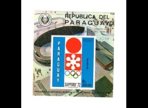 Paraguay (Sapporo 1972) Block 150, postfrisch