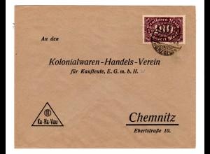 Reklamebrief, Kolonialwaren-Handels-Verein, Chemnitz.