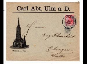 Reklamebrief, Carl Abt, Ulm a.D.
