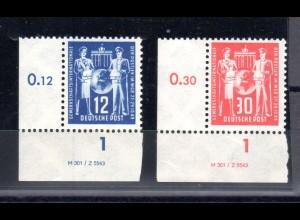 DDR, Postgewerkschaft mit Druckvermerk, **