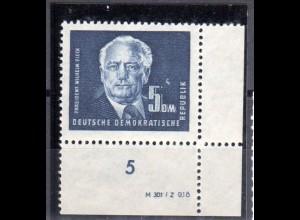 DDR, Pieck 5 DM mit DV, postfrisch.