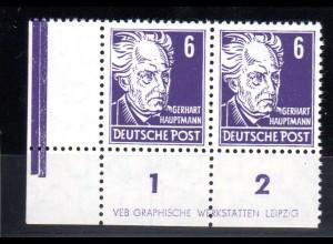 DDR, Köpfe II 6 Pfg. (328 vb XI) mit DZ 1 postfrisch, sign. Mayer