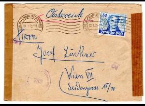 Berlin, Ausland-Brief mit EF Mi.-Nr. 63