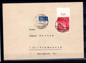 Berlin, Fern-Brief mit EF Mi.-Nr. 69 mit OR., FA Schlegel.