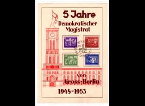 DDR, Gedenktblatt anl. 5 Jahre Demokr. Magistrat von Gross-Berlin