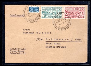 Franzosische-Zone, Würtemberg,FDC Mi.-Nr. 38-39