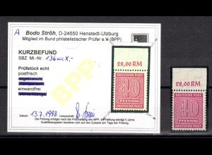 SBZ-Westsachsen, Mi.-Nr 136 Xc postfrisch.