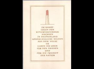 DDR-Gedenkblatt, im Kampf gegen den Hitlerfaschismus wuchsen in Deutschland.....