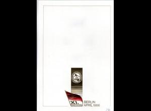 DDR-Gedenkblatt, XI. Parteitag der SED Berlin 1986
