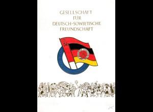 DDR-Gedenkblatt, Gesellschaft für Deutsch-Sowjetische Freundschaft