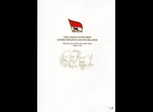DDR-Gedenkblatt, X. Parteitag der SED