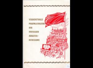 DDR-Gedenkblatt, Verdienstvolle Persönlichkeiten der Arbeiterbewegung