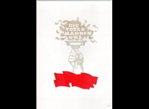 DDR-Gedenkblatt, Die Toten mahnen uns