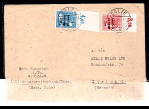 SBZ, Ausland-Brief mit MiF. Mi.-Nr. 192 POR dgz.