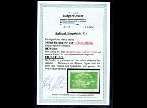 Rußland, Mi.-Nr. 168 y Fälschung ungebraucht, FA. Hovest.