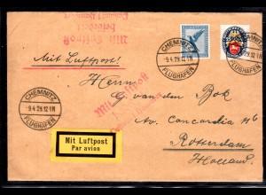 DR, Ausland Luftpost Brief Chemnitz-Rotterdam