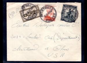 Belgisch-Kongo, Lp-Brief nach Ohio USA.
