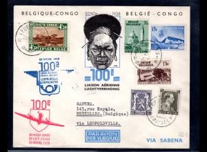 Belgisch-Kongo, Lp-Brief Belgien-Congo.
