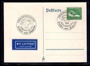 Zepp-Karte 100 Geburstag des Grafen von Zeppelin mit Mi.-Nr 670