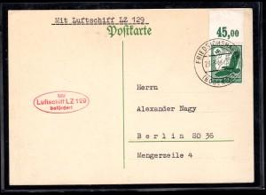Zepp-Karte LZ 129 mit EF Mi.-Nr. 535 X OR.