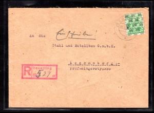 AM.&Britische-Zone, Eingeschriebener Fernbrief mit EF. Mi.-Nr. 51 II, mit AK-St.