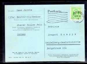 AM.&Britische-Zone, Fern-Karte mit EF. Mi.-Nr. 3