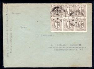 AM.&Britische-Zone, Fernbrief mit MeF. Mi.-Nr 2