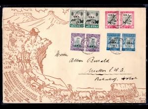 Südafrika (SWA.), Fern-Brief mit Mi.-Nr. 172-179