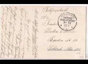 Marine-Schiffspost Nr. 17, als Feldpostkarte 22.05.1916