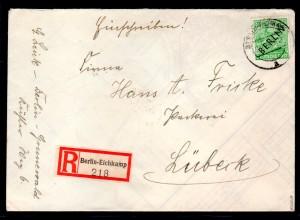 Berlin, Eingeschriebener Fernbrief mit EF. Mi.-Nr. 16, sign. SchlegelBPP.