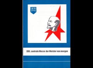 DDR-Gedenkblatt, XIII. zentrale Messe der Meister von morgen