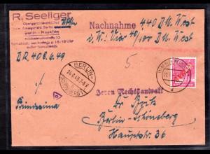 Berlin, Orts-Nachnahme-Brief mit EF. Mi.-Nr. 29