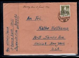 Berlin, Ausland-Brief mit EF. Mi.-Nr. 38