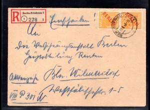 Berlin, Eingeschriebener-Ortsbrief mit MeF. Mi.-Nr. 27