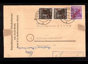 Berlin, Ortsbrief mit Mi.F. Mi.-Nr. 21 +22