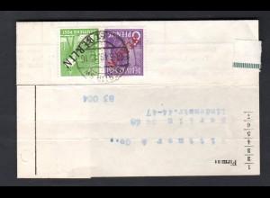 Berlin, Ortsbrief mit Mi.F. (Schwarz-/Rot-aufdruck) Mi.-Nr. 22 + 4