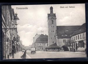 Fotokarte Brandenburg, Fürstenwalde Markt und Rathaus