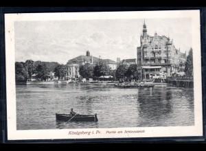 Fotokarte Königsberg, Partie am Schloßteich