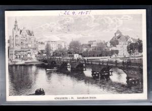 Fotokarte Königsberg, Schloßteich-Brücke