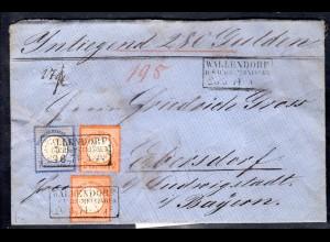 DR, Brustschildbrief Mi.F. Kleiner+Grosser Schild als Wert-brief, portorichtig.
