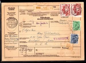 Brandenburger Tor: Intern. Paketkarte mit Nr. 69 im senkr. Paar. Top!